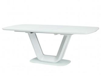 Armani bővíthető asztal matt fehér MDF/üveg 140-200X90