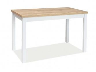 Adam asztal arany craft tölgy MDF/matt fehér láb 100x60
