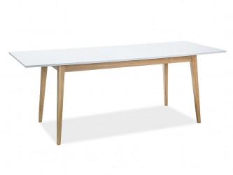 Cesar bővíthető asztal fehér/tölgy láb 160-205x80