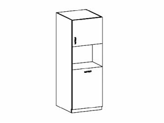 Aspen D60P - 60-as magas szekrény sütőbeép. és cargo kosárral jobbos f. fehér