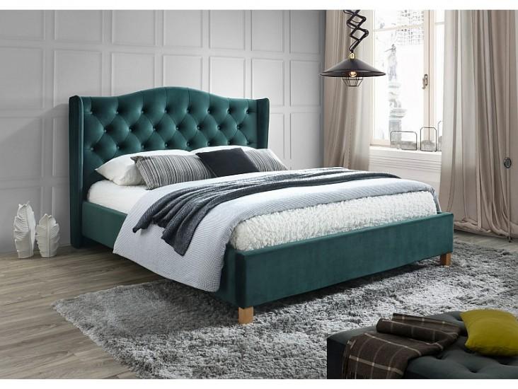Aspen Velvet 160x200 francia ágy zöld bársony (Bluvel 78) (matrac nélkül)